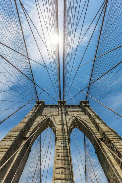 Wall Art - Photograph - New York City Brooklyn Bridge In Detail by Melanie Viola