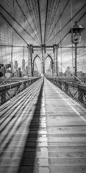 Wall Art - Photograph - New York City Brooklyn Bridge - Panorama by Melanie Viola