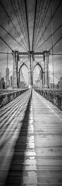 Wall Art - Photograph - New York City Brooklyn Bridge - Upright Panorama by Melanie Viola