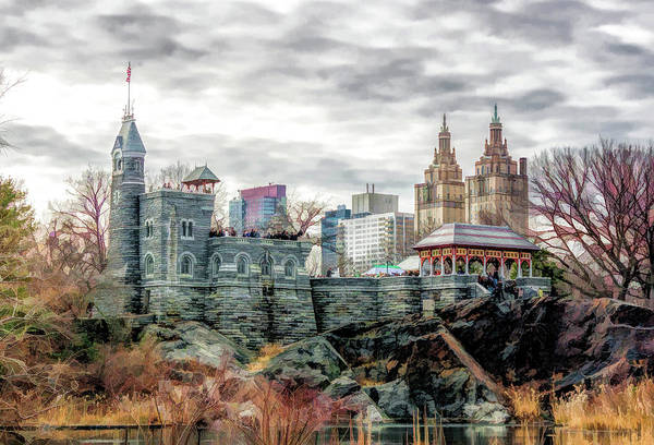 Painting - New York City Central Park Belvedere Castle by Christopher Arndt