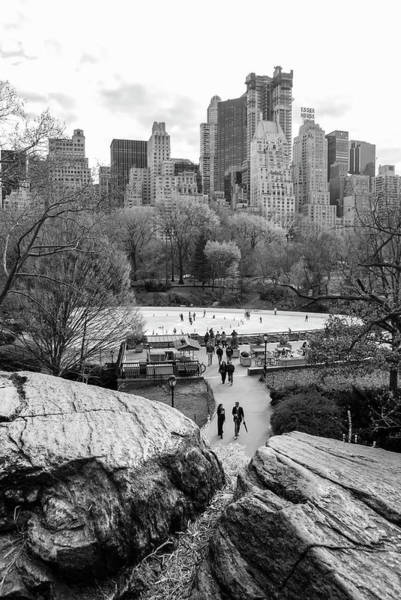 Art Print featuring the photograph New York City Central Park Ice Skating by Ranjay Mitra