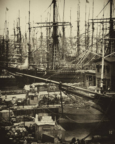 New York City Docks - 1800s Art Print