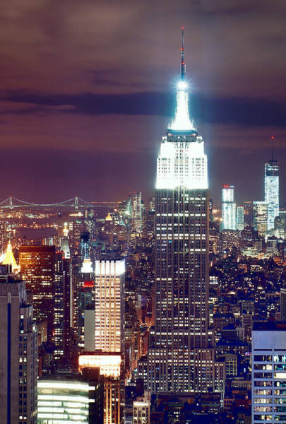 Photograph - New York City Empire View by Rospotte Photography