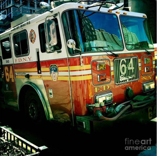 Wall Art - Photograph - New York City Fire Engine by Miriam Danar