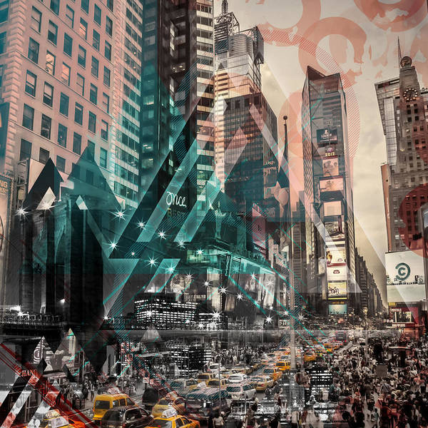 Wall Art - Photograph - New York City Geometric Mix No. 4 by Melanie Viola