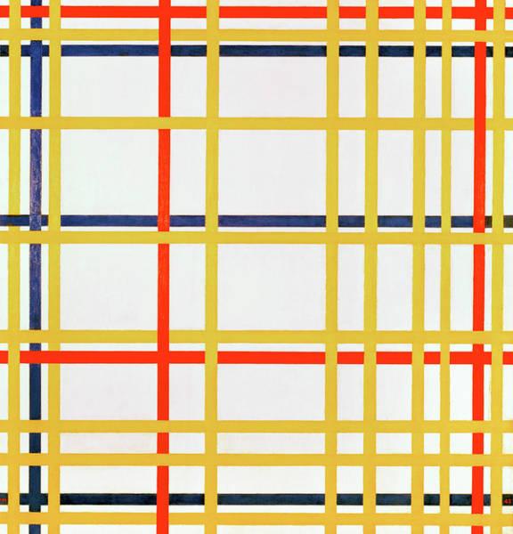 De Stijl Painting - New York City I by Piet Mondrian
