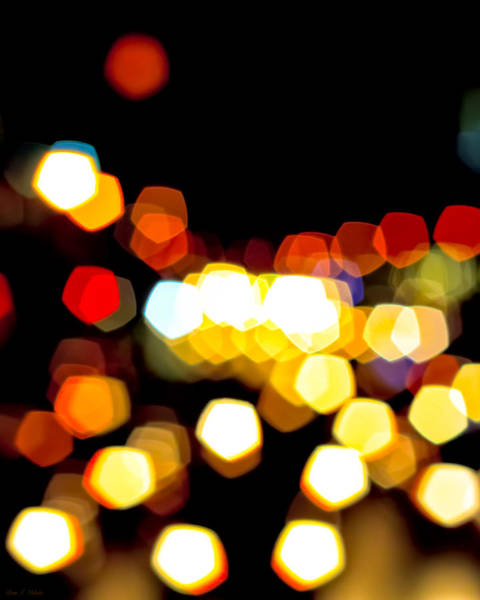Photograph - New York City Lights - My View by Mark E Tisdale