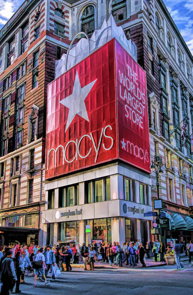 Painting - New York City Macy's Herald Square Store by Christopher Arndt