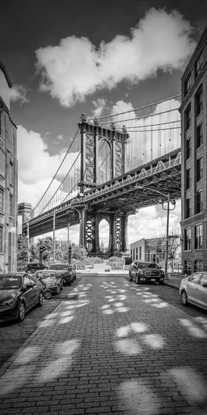 Wall Art - Photograph - New York City Manhattan Bridge - Panorama by Melanie Viola