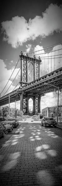 Wall Art - Photograph - New York City Manhattan Bridge - Upright Panorama by Melanie Viola