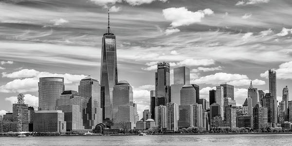 Lower Manhattan Photograph - New York City Manhattan Skyline And Hudson River by Melanie Viola