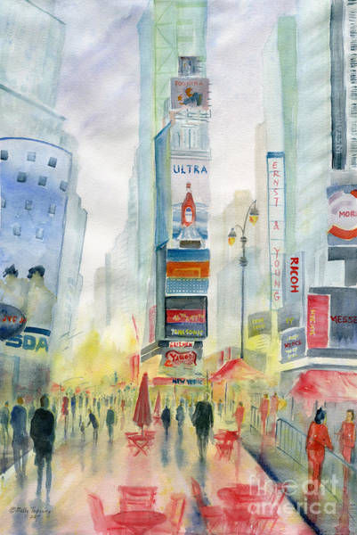 Manhattan Skyline Painting - New York City by Melly Terpening