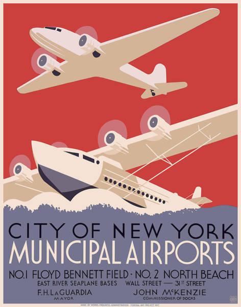 Wall Art - Painting - New York City Municipal  by MotionAge Designs
