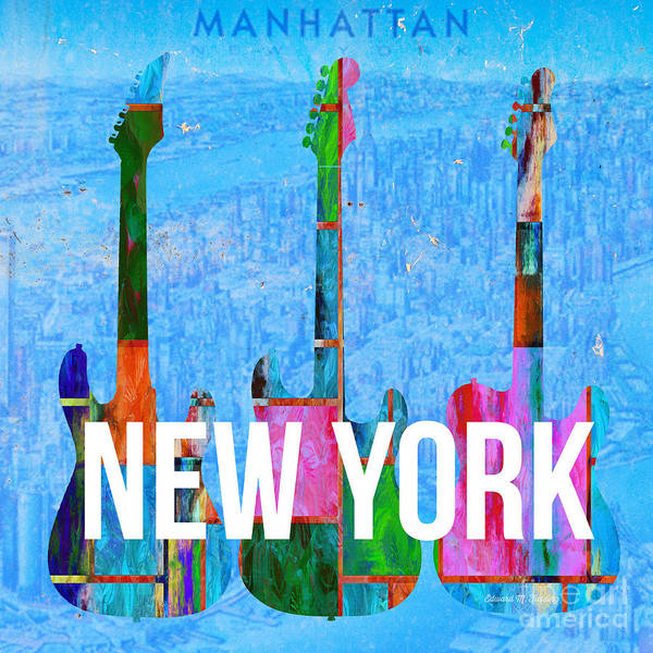 Digital Art - New York City Music Scene by Edward Fielding