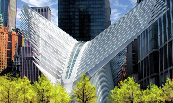 Painting - New York City Oculus Terminal by Christopher Arndt