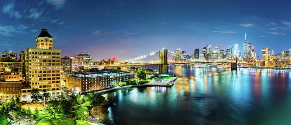 Photograph - New York City Panorama By Night by Mihai Andritoiu