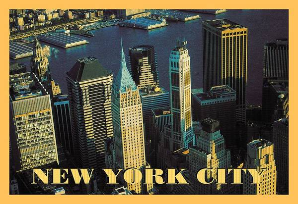 Photograph - New York City Poster - Downtown Manhattan Skyline by Peter Potter