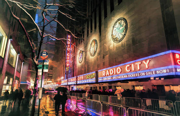 Music City Painting - New York City Radio City Music Hall by Christopher Arndt