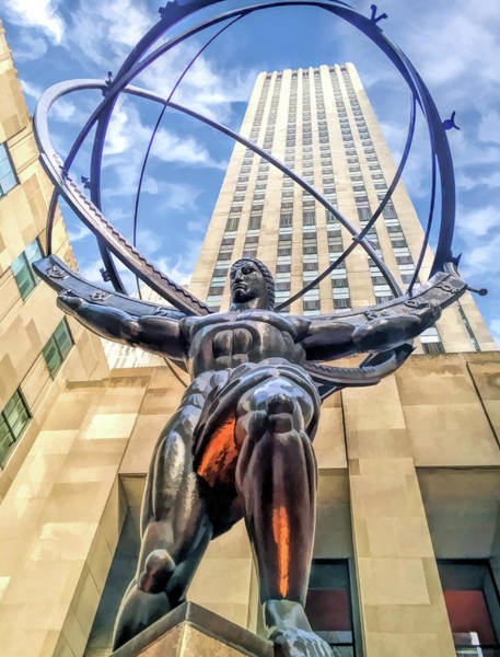 Painting - New York City Rockefeller Center Atlas The Titan by Christopher Arndt