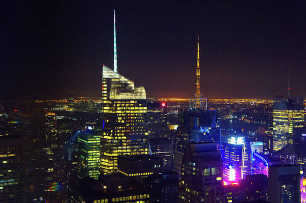 Wall Art - Photograph - New York City Skyline At Night by Art Spectrum