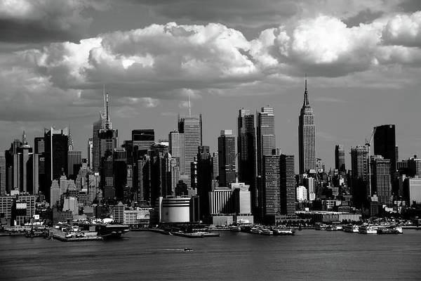 Photograph - New York City Skyline Bw 2 by Frank Romeo