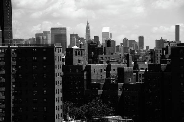 Photograph - New York City Skyline Bw 3 by Frank Romeo