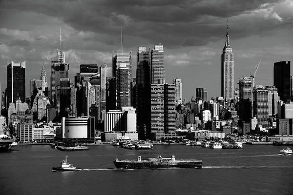 Photograph - New York City Skyline Bw 4 by Frank Romeo