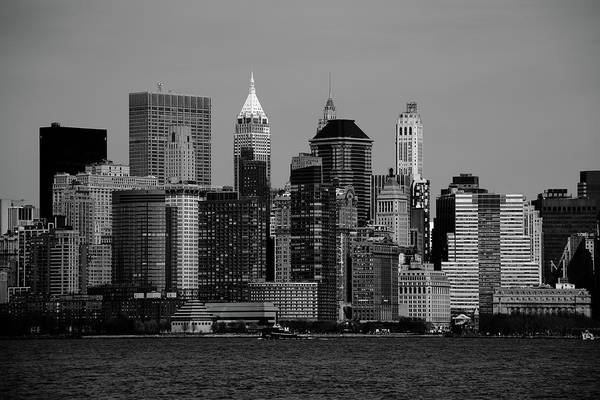 Photograph - New York City Skyline Bw 5 by Frank Romeo