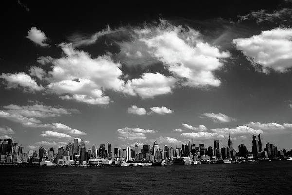 Photograph - New York City Skyline Bw 6 by Frank Romeo