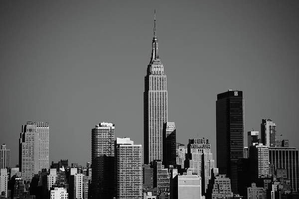 Photograph - New York City Skyline Bw 8 by Frank Romeo