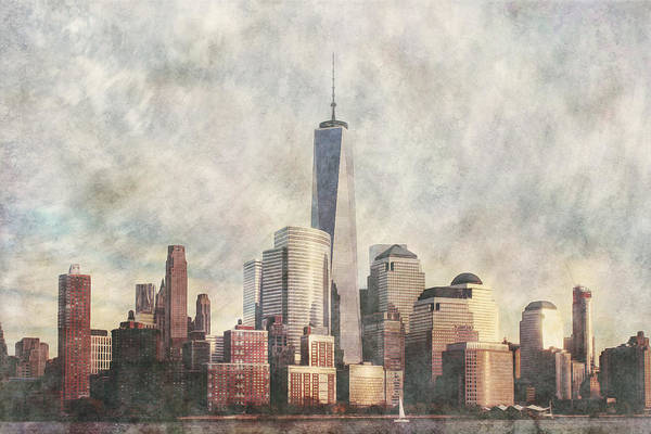 Photograph - New York City Skyline Including The World Trade Centre by Anthony Murphy
