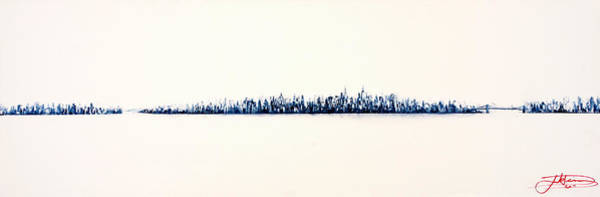 Nyc Skyline Painting - New York City Skyline by Jack Diamond