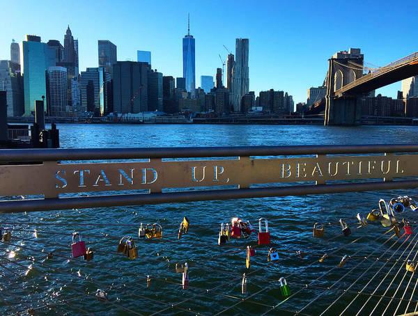 Photograph - New York City Skyline With Brooklyn Bridge by Joann Vitali