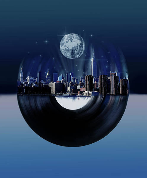 Empire State Building Digital Art - New York City Sound 7 by Bekim Art