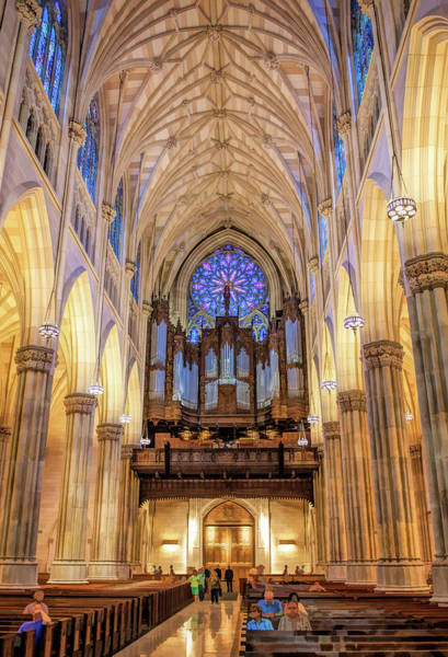 St Patricks Painting - New York City St Patrick's Cathedral Organ by Christopher Arndt