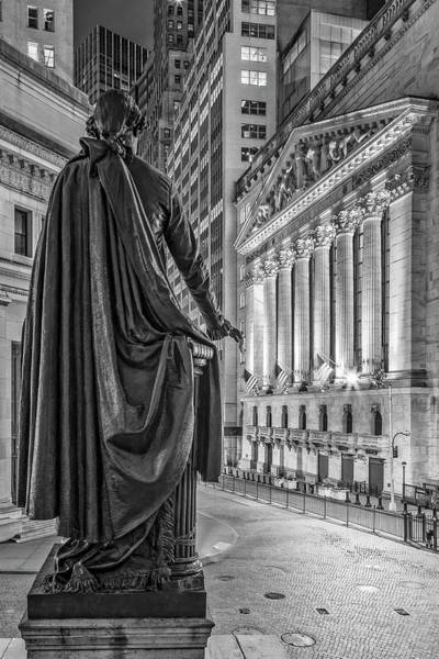 Photograph - New York City Stock Exchange Wall Street Nyse Bw by Susan Candelario