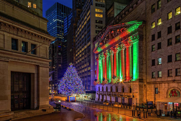Photograph - New York City Stock Exchange Wall Street Nyse by Susan Candelario