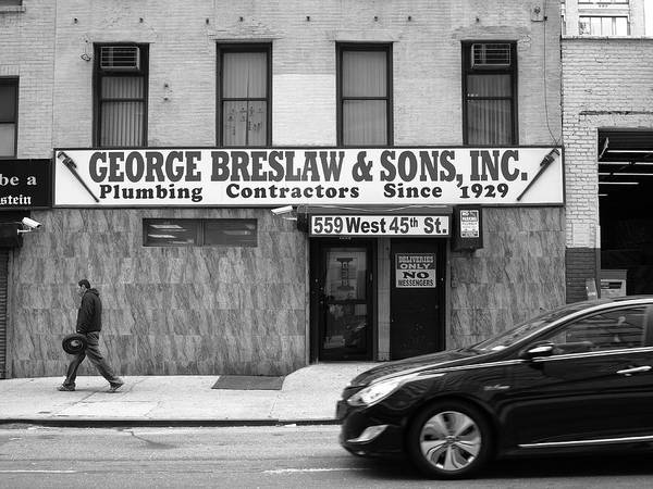 Photograph - New York City Storefront Bw4 by Frank Romeo
