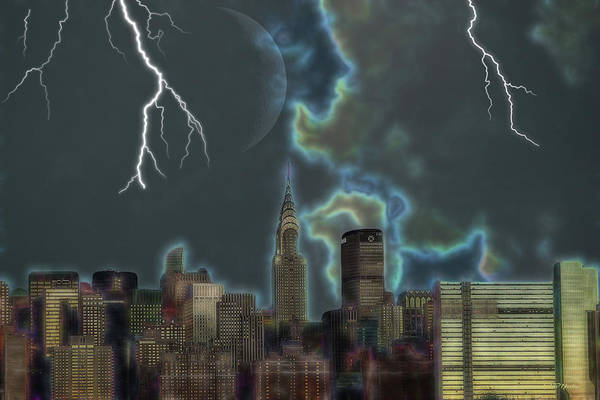 Photograph - New York City Stormy Sky by Ericamaxine Price
