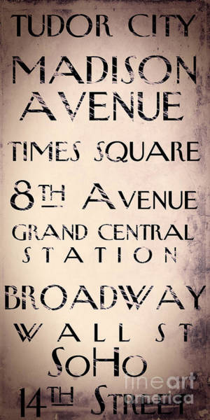 Grand Central Painting - New York City Street Sign by Mindy Sommers