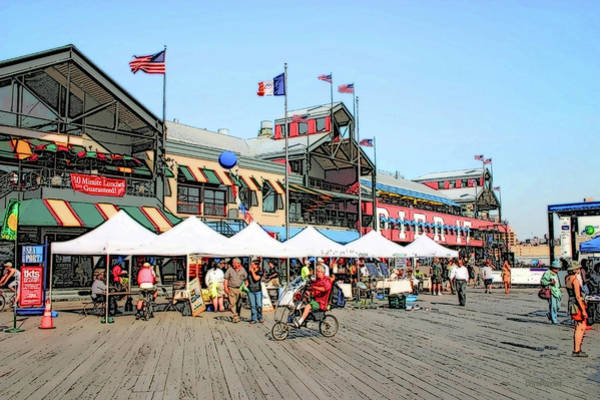 Photograph - New York City Streets - South Street Seaport by Ericamaxine Price