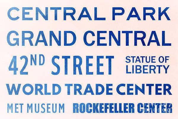 Midtown Manhattan Digital Art - New York City Subway Sign Typography Art 10 by Nishanth Gopinathan