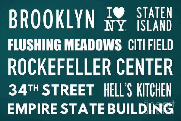 The Empire State Building Digital Art - New York City Subway Sign Typography Art 15 by Nishanth Gopinathan