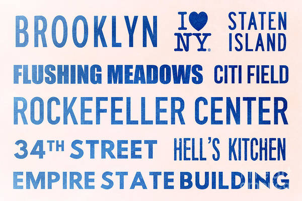 Hells Kitchen Wall Art - Digital Art - New York City Subway Sign Typography Art 17 by Nishanth Gopinathan