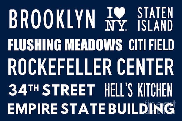 Hells Kitchen Wall Art - Digital Art - New York City Subway Sign Typography Art 18 by Nishanth Gopinathan