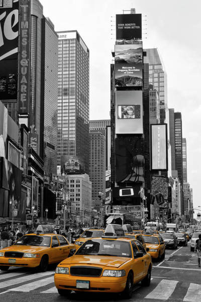 Traffic Photograph - New York City Times Square  by Melanie Viola
