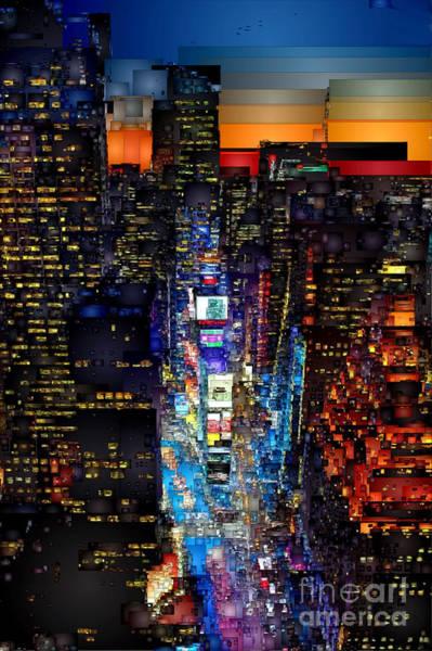 Digital Art - New York City - Times Square by Rafael Salazar