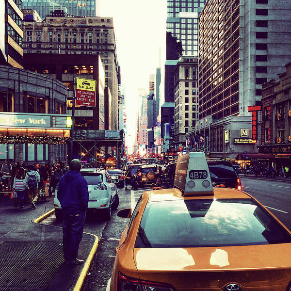 Photograph - New York City Traffic by Patrick Malon