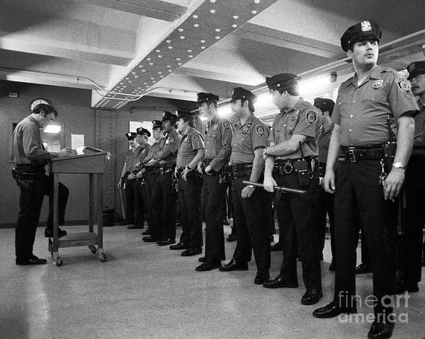 Cops Photograph - New York City Transit Police 1978 by The Harrington Collection