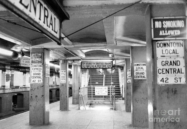 New York City Transit Strikes Leaves Grand Central Station Bare. 1980 Art Print by William Jacobellis